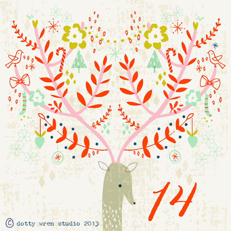 dottywrenstudio: advent calendar...day 14