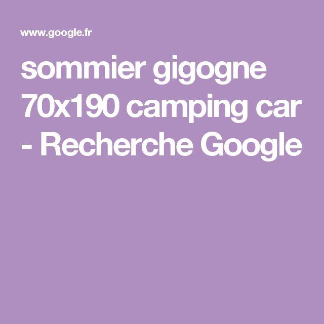 sommier gigogne 70x190 camping car - Recherche Google