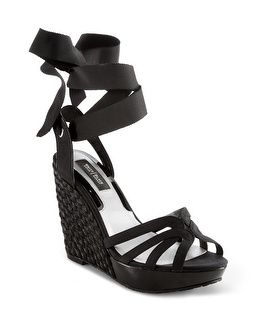 White House | Black Market Ankle Tie Espadrille Wedge #wh i might have to have these.