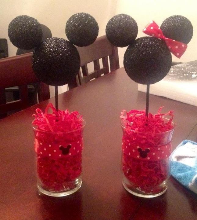 Mickey & Minnie centerpieces