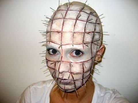 Pinhead Halloween Makeup Tutorial http://www.youtube.com/watch?v=DqrAnYet7_4