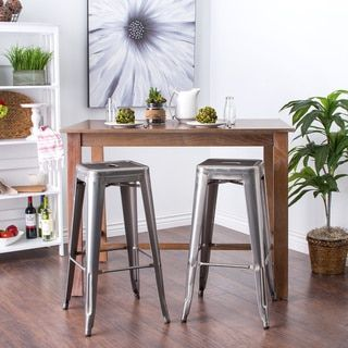 Tabouret 30-inch Vintage and Gunmetal Bar Stools (Set of 2) - Free Shipping Today - Overstock.com - 14366774 - Mobile