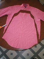 Girl's Dress made from Man's Button Up Dress Shirt....very simple...similar to the pillow case dress everyone is making!