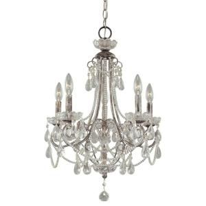 Minka Lavery, 5-Light Distressed Silver Mini Chandelier, 3134-207 at The Home Depot - Mobile