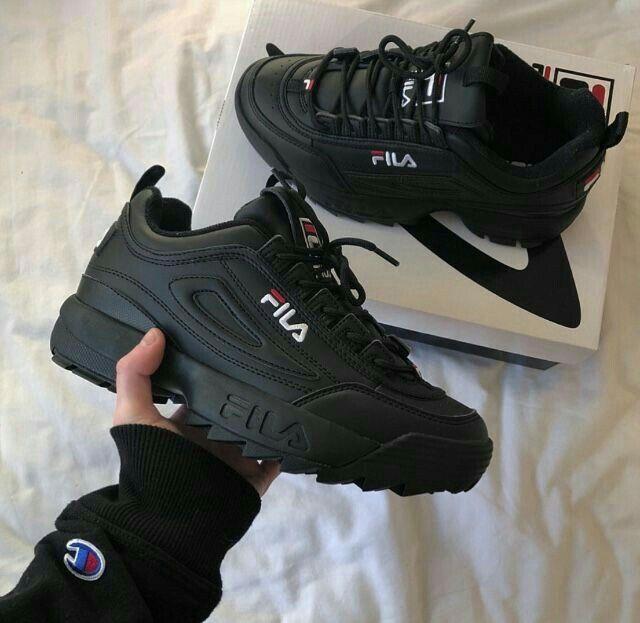 Fils shoes sneackers👟 Black Fila Shoes 539d24b70e