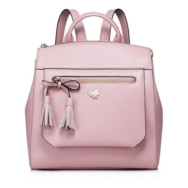 Pink Zipper Top Closure Bowknot Decoration Backpack ($99) ❤ liked on Polyvore featuring bags, backpacks, knapsack bag, daypack bag, embellished bags, backpack bags and rucksack bags