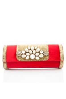 Velvet clutch embellished with pearl and diamonds from #Benzer #Benzerworld #clutches #bags