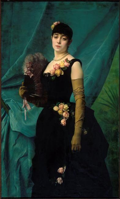 Portrait de madame Lambinet by Gustave Clarence Rodolphe Boulanger, 1887, Musée…