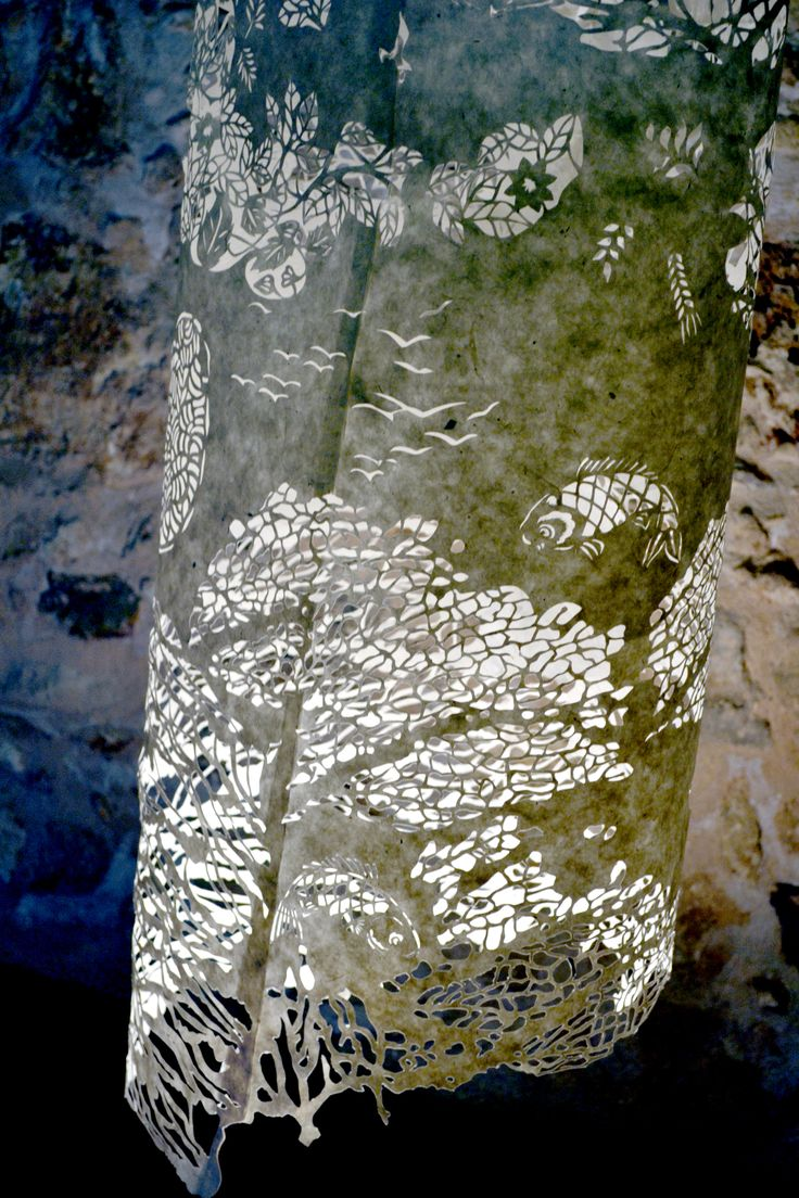 """""""Delicate balance"""" (detail) Sculpture made of handmade paper, cut with medical lancet.  Kaziale Stavroula"""