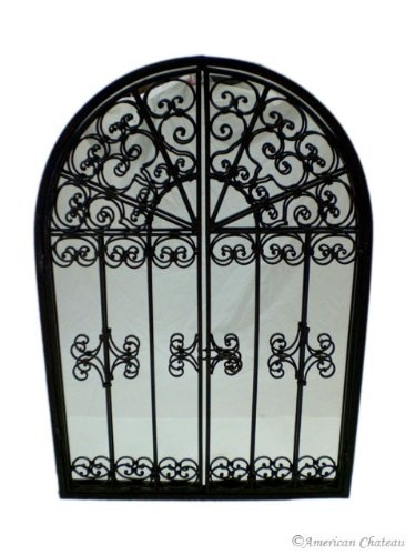 Large Wrought Iron Wall Mirror Window With Shutter: Amazon.ca: Home U0026 Garden