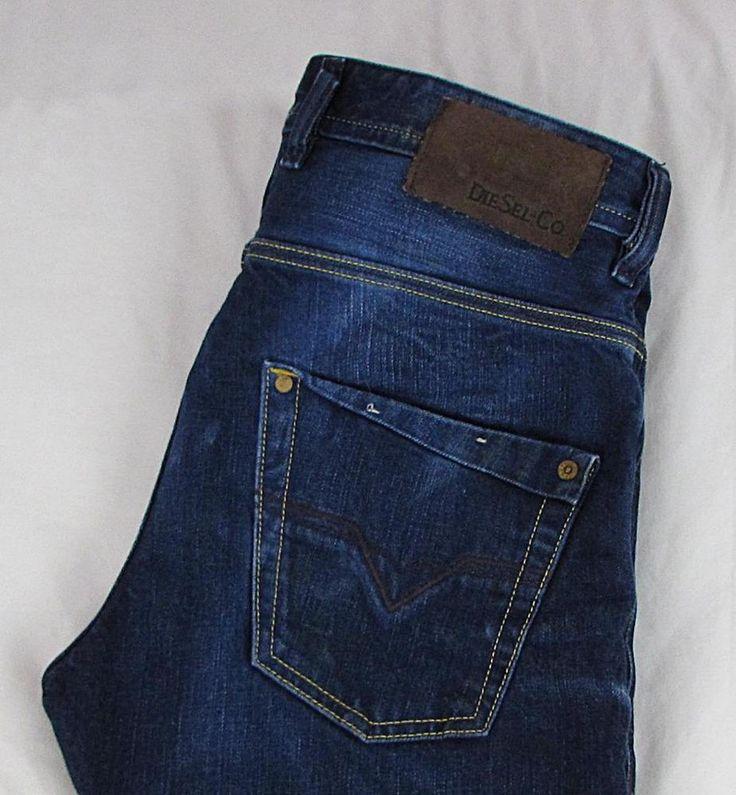 Diesel Krooley Regular Slim Carrot Jeans Dark Wash 0880W Made in ITALY 28 x 32 #Diesel #Slim