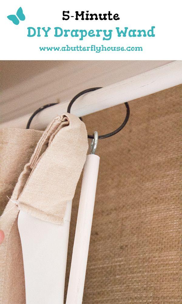 How To Make A Diy Drapery Wand Drapery Drapery Trim Wands