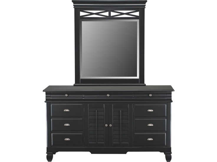Plantation Cove Black Dresser Mirror Value City