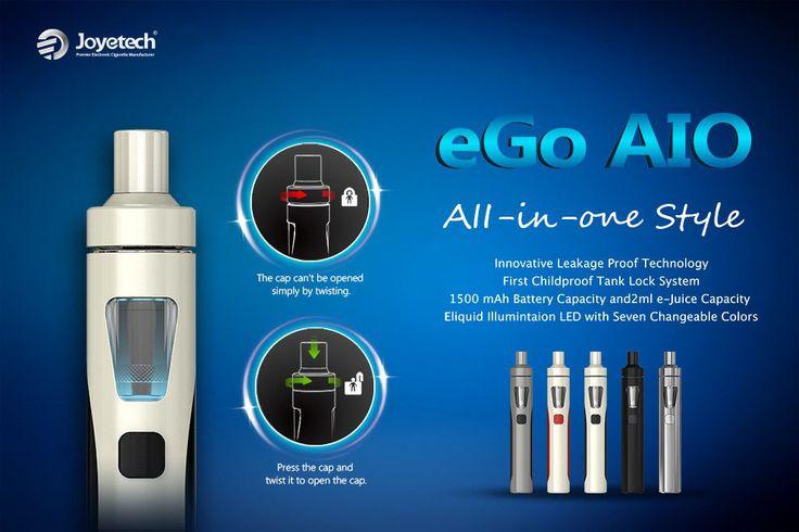 NOU- Joytech eGO AIO - NOU http://www.mahoarca.ro/tigara-electronica-premium.html/joyetech-ego-aio-1500mah Model revolutionar Joytech eGO AIO foloseste un design uniboby , vaporizatorul fiind inclus in corpul baterie. eGO AIO se distinge prin dimensiunea compacta ce o face extem de utila celor ce isi doresc o tigara electronica discreta.