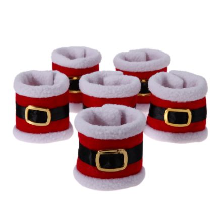 Christmas Santa Claus Napkin Rings Napkin Holders Dinner Tableware Decor 6pcs/lot. ECA Listing By Iva's Land Shop, Serbia
