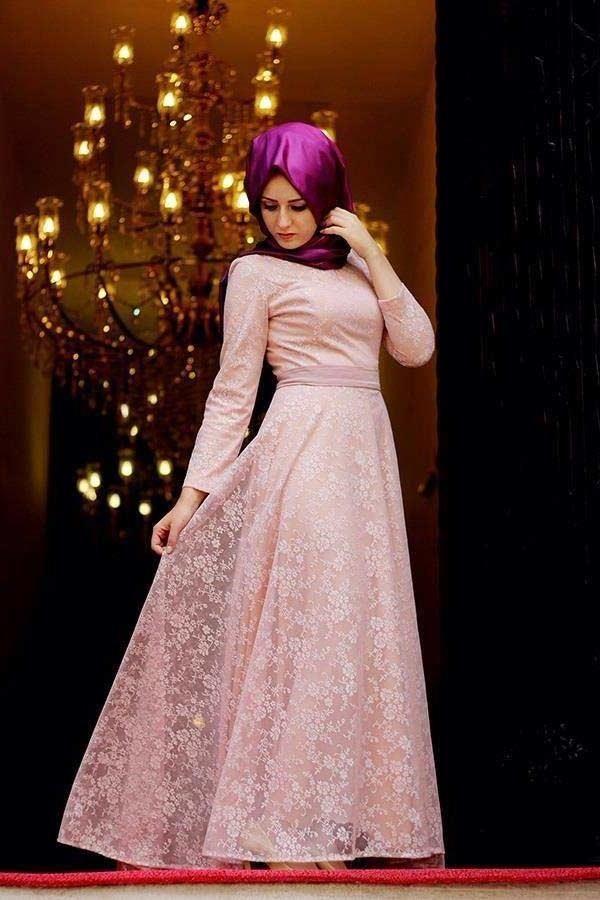 6b18879c95165 Dantel Desenli Trend Abiye Modeli | ☙Modest Outfits/Tesettür Giyim ...