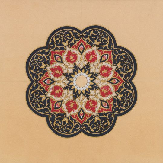 AL-NOUR The Light Shell gold & natural pigment on prepared paper 21 x 21 cm 2011 http://www.danaawartani.com
