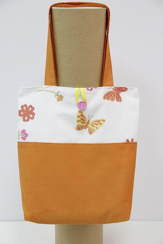 Handmade Shopping Bag, Shopping bag, Tote Bag. Butterfly shopping bag