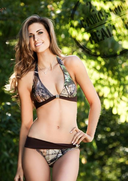 2011 Realtree APG camo halter swimsuits