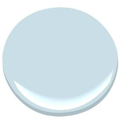 "Benjamin Moore's 2014 Color of the Year is ""Breath of Fresh Air"". A calm light blue with a hint of gray."