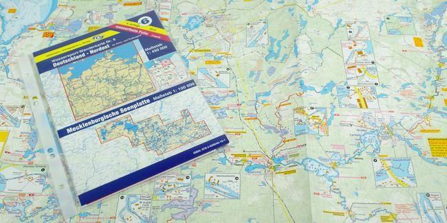 Wassersport-Wanderkarte WW6 für Deutschland Nord-Ost