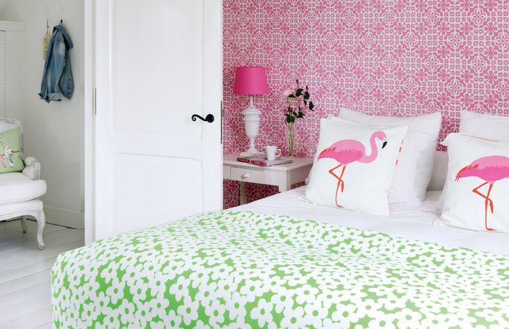 eurowalls pink geometric kitsch wallpaper ginger 2016