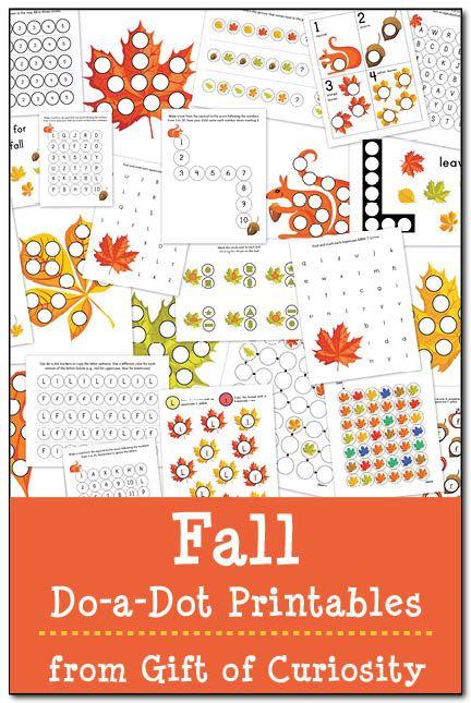 Fall Do-a-Dot Printables