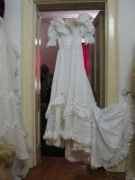 Regency-style wedding gown for the steampunk bride from The Mabs Collection