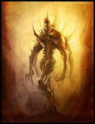The Shrike from Dan Simmons' Hyperion Cantos. The Most frightening face of Death.