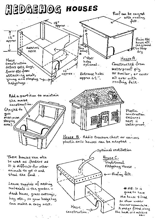 Currently researching on how to make a home for hedgehogs, here you will find some information that I have found so far. The reason on making a hedgehog house is so that we attract good wildlife, a…
