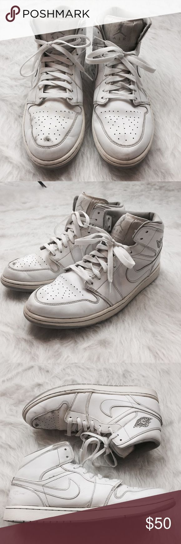 Jordan 1's All White Jordan One men's size 13. See photos for details Nike Shoes Sneakers