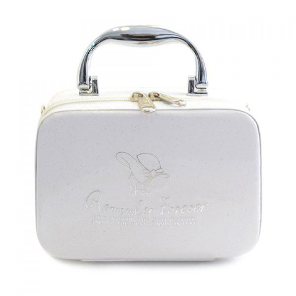 Stylish Print and Patent Leather Design Cosmetic Bag For Women, WHITE in Cosmetic Bags | DressLily.com