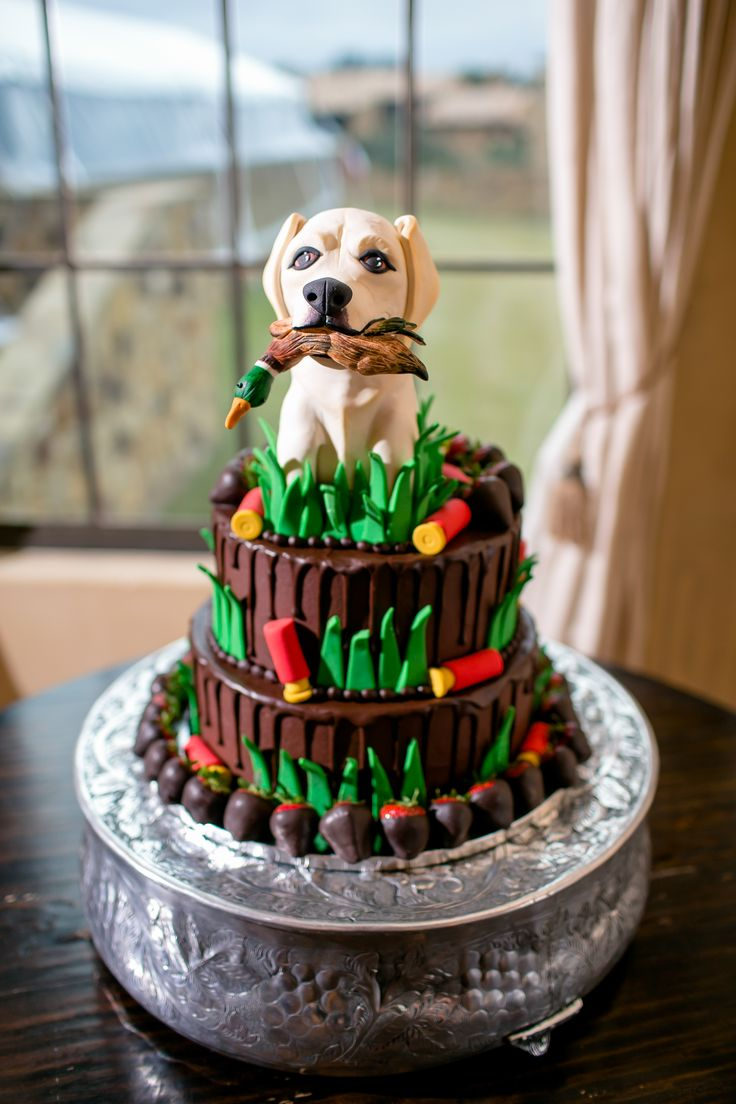Whimsical Groom S Cake With Hunting Dog Topper In 2019