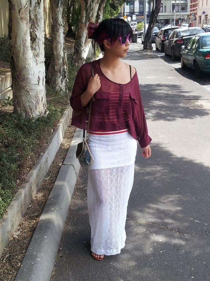 DIY – Lace Sheer Maxi Mini Skirt@Pretty Quirky Pants