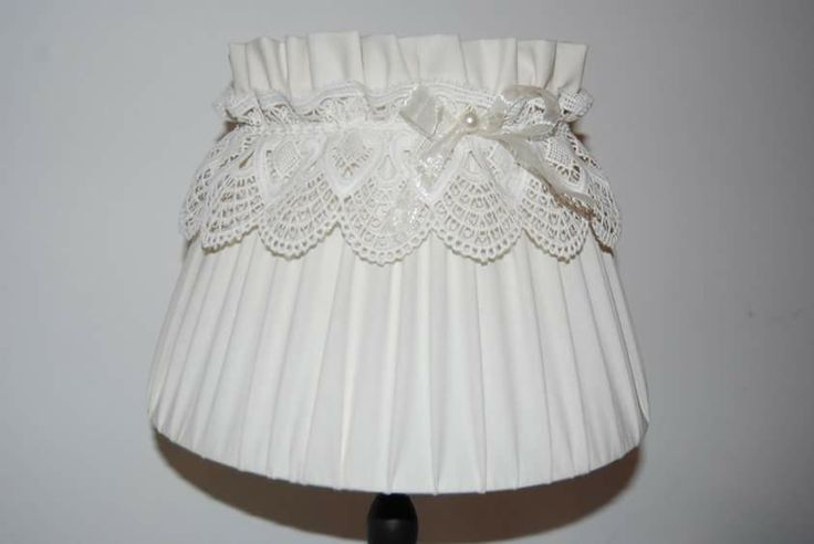Paralume con pizzo <3 Lampshade