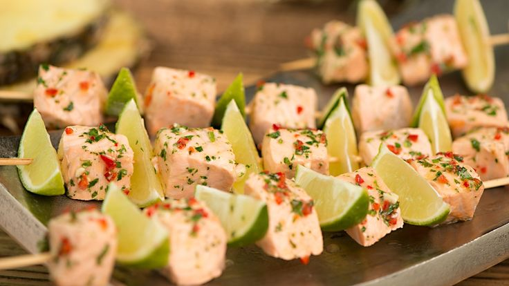 Grillowane meksykańskie szaszłyki z łososia  #lidl #przepis #losos #grill