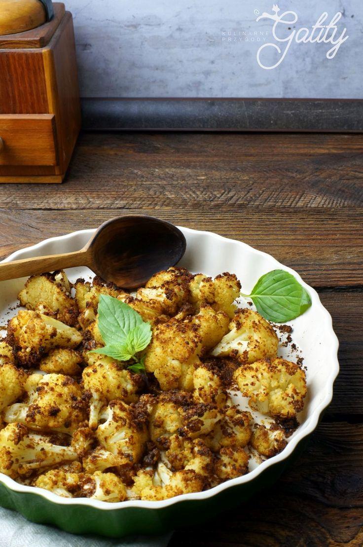 Kulinarne przygody Gatity - przepisy pełne smaku: Pieczony kalafior z przyprawami