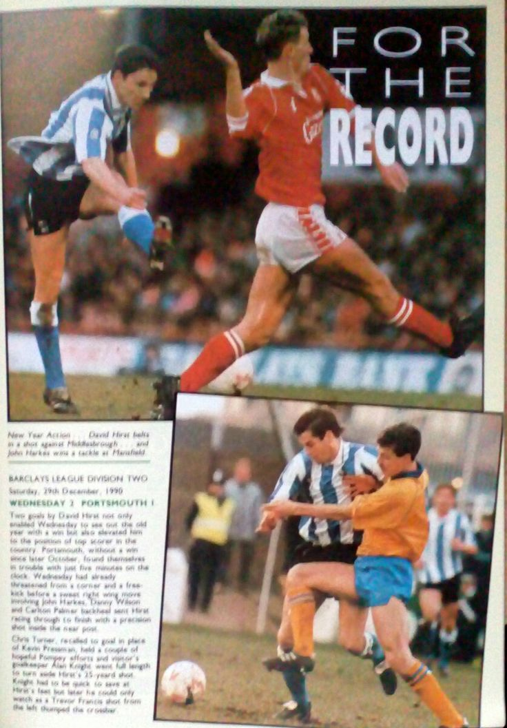 Action pics from Sheffield Wed's 2-0 win at Middlesbrough in Div 2 (Jan 1991) and 2-0 win at Mansfield Town in the FA Cup 3rd Round (Jan 1991).