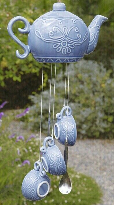 Teapot and cup wind chime
