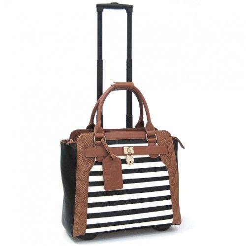 "Cabrelli 15.4"" Rolling Laptop Bag - Sally Stripe"