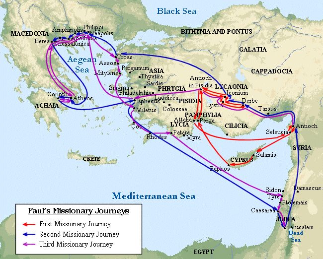 Nissan Of New Orleans >> Paul's Missionary Journeys | Bible | Pinterest | Macedonia