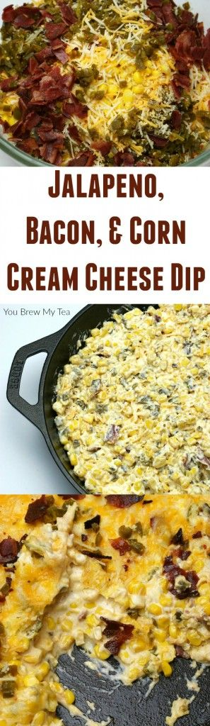 This amazing Cheesy Corn Dip Recipe has great flavors like bacon, jalapeno, cheddar and Parmesan to create a hearty dip everyone loves!