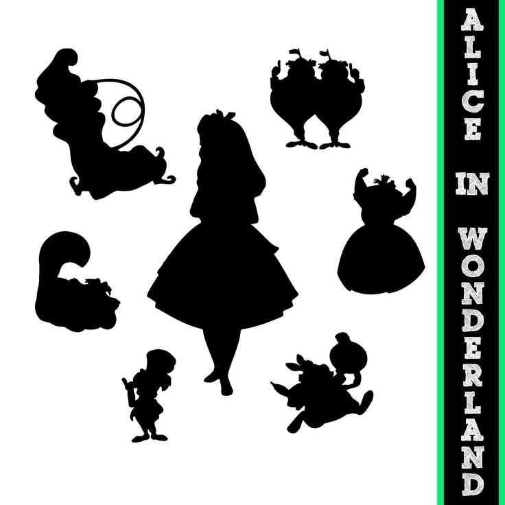 alice au pays des merveilles silhouettes disney princesse alice silhouette disney. Black Bedroom Furniture Sets. Home Design Ideas