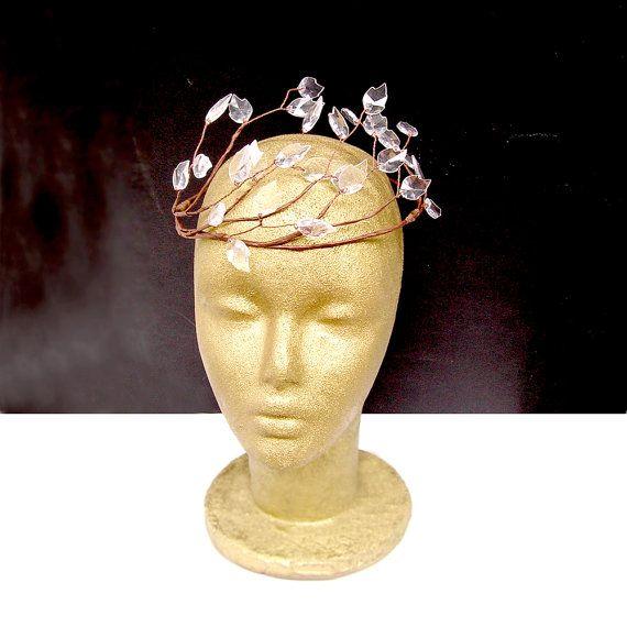 Witte blad kroon bosrijke Fairy haar krans bosrijke door curtainroad