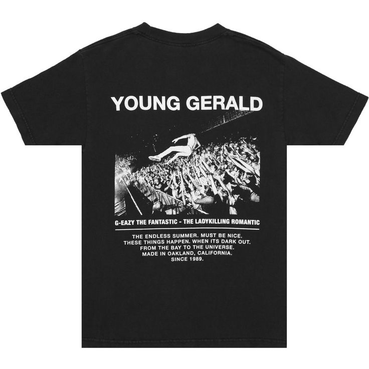 "- Special Edition ""G-Eazy The Fantastic"" Concert T-Shirt - Custom Vintage Wash - Blank Front - Photo by @olav - Designed & Printed in California"