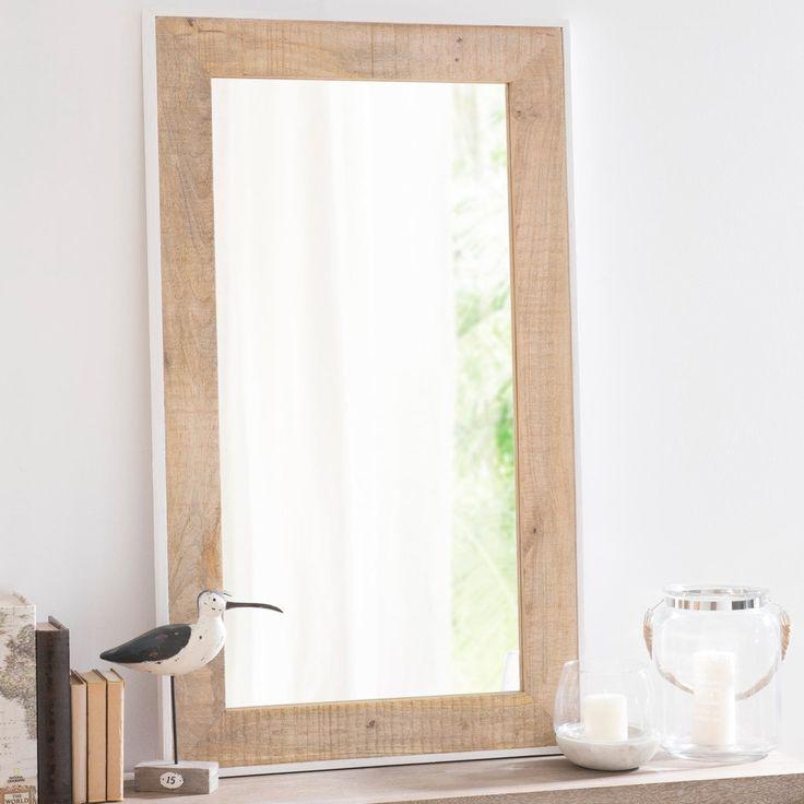Spiegel TORONTO mit Holzrahmen, H 71 cm