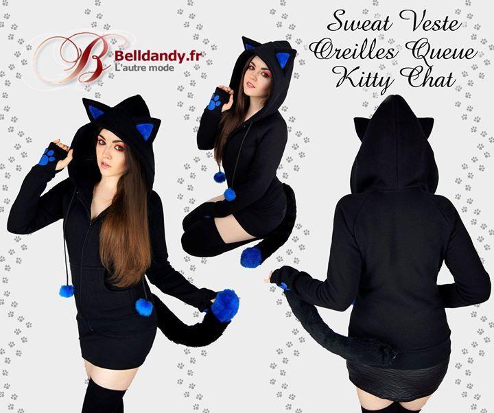 Sweat Veste Cyber Kawaii Capuche Oreilles Queue Kitty Chat  http://www.belldandy.fr/sweat-veste-cyber-kawaii-capuche-oreilles-queue-kitty-chat.html https://www.facebook.com/belldandy.fr/photos/a.338099729399.185032.327001919399/10154502755074400/?type=3