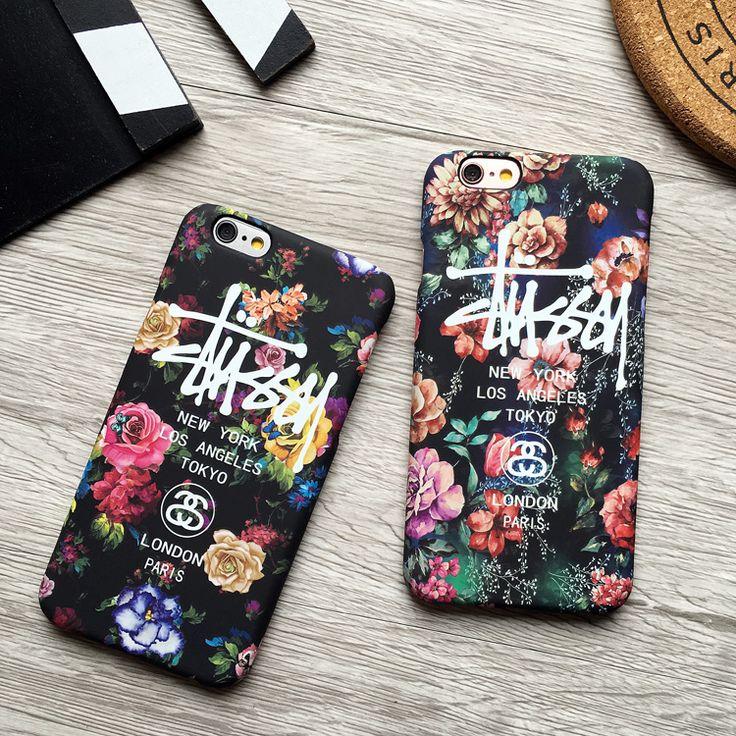iphone7/6ケース 20代女子 stussy花柄芸能人愛用おしゃれアイフォン6sステューシーplusマット素材ハードケース