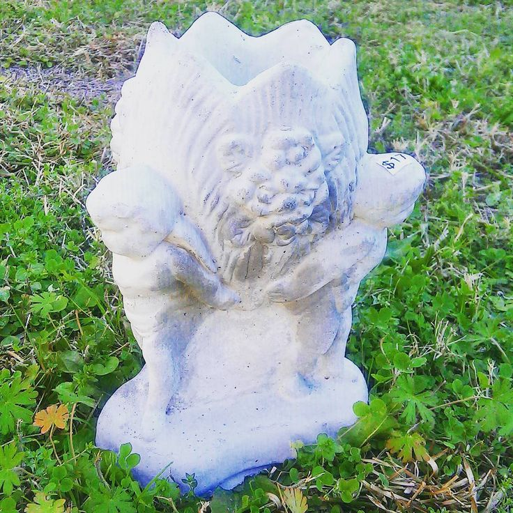 17 Mini Cherub Angel Planter Or Vase Concrete Garden
