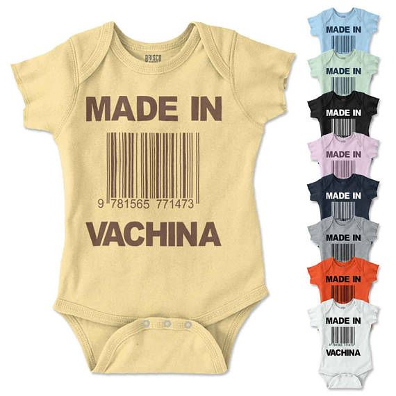Cute Funny Made in Vachina Baby One Piece Romper Toddler Shirt